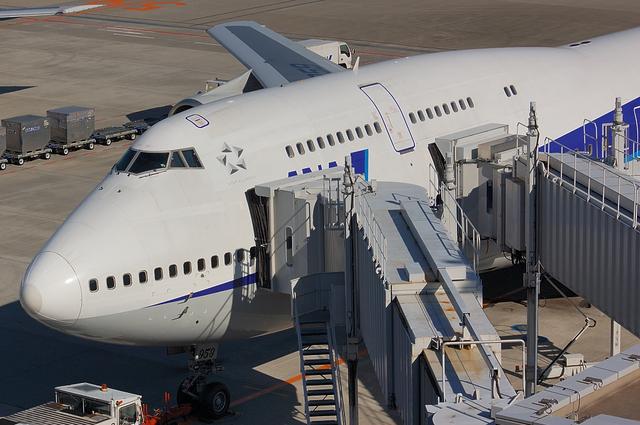 ANA Boeing747-400D スポット
