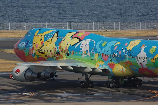 お花ジャンボ Boeing747-400D(JA8956)