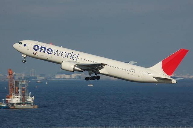 ONE WORLD Boeing767 Climb