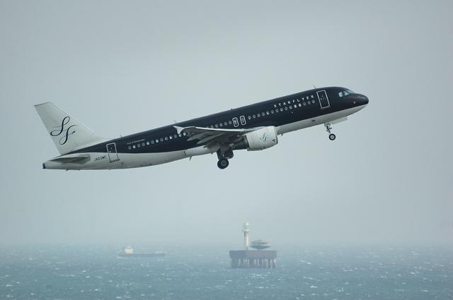 SFJ Airbus A320 Positive climb