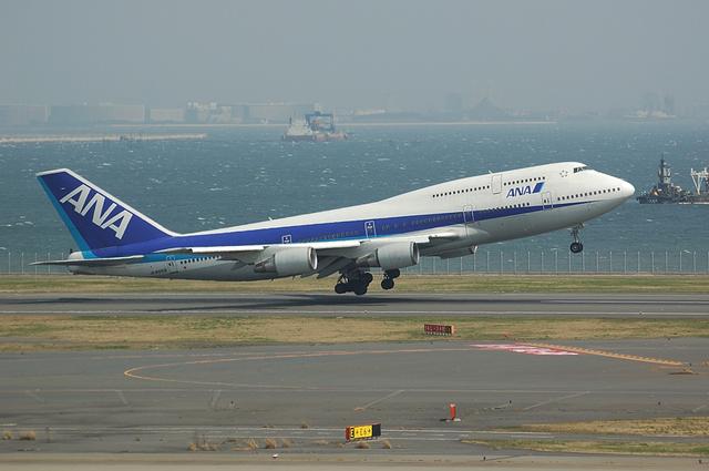 ANA Boeing747-400 ローテーション