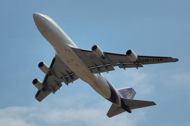 タイ国際航空のBoeing747-400 1