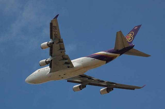 タイ国際航空のBoeing747-400 3