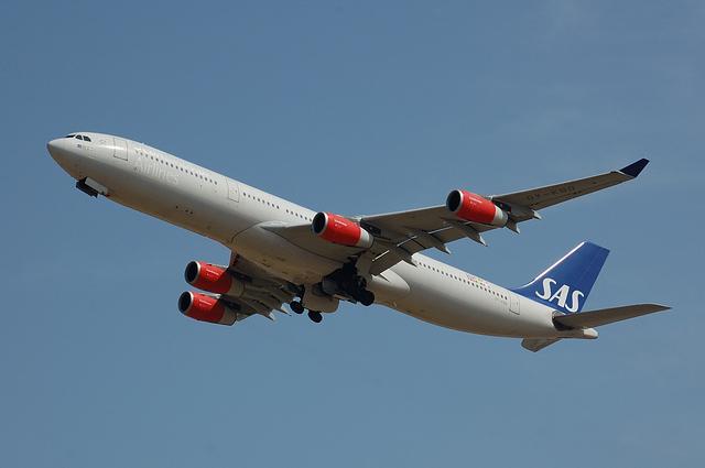 スカンジナビア航空のAirbus A340-300 2