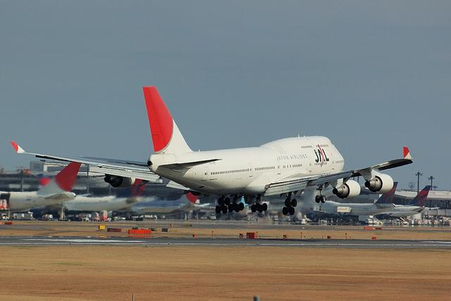 JAL Boeing747-400 Landing 3
