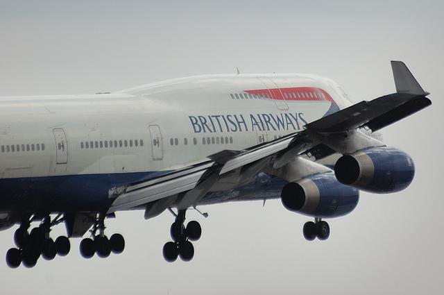 英国航空Boeing747-400 Landing