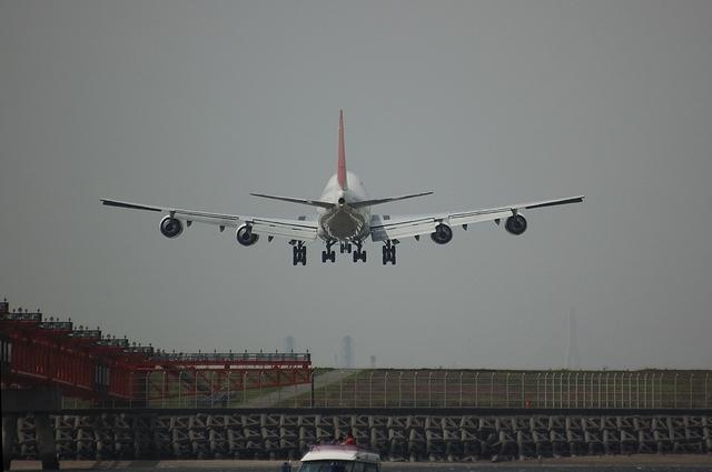 JAL Boeing747 RWY22 Approach 4