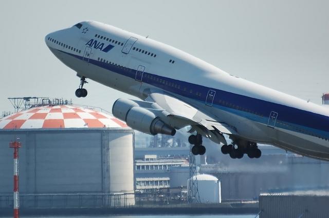 ANA Boeing747 RWY16R テイクオフ 3