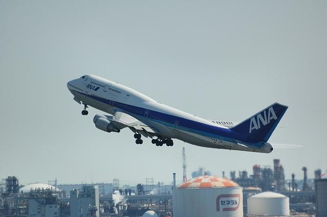 ANA Boeing747 RWY16R テイクオフ 4