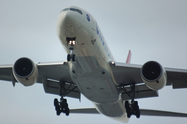 JAL ONE WORLD 塗装のBoeing777