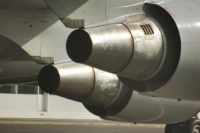ANA Boeing747-400のエンジン