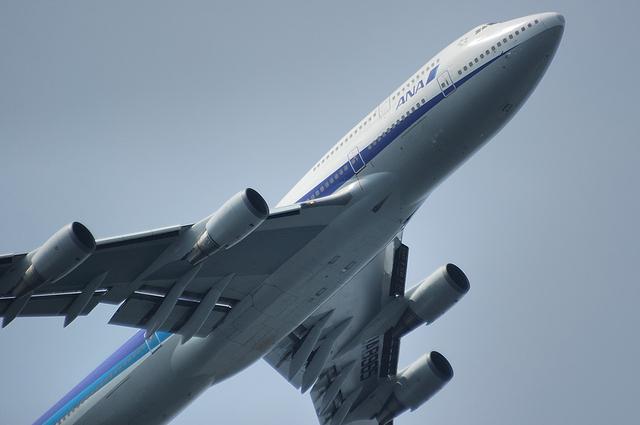 ANA Boeing747-400 上昇 1