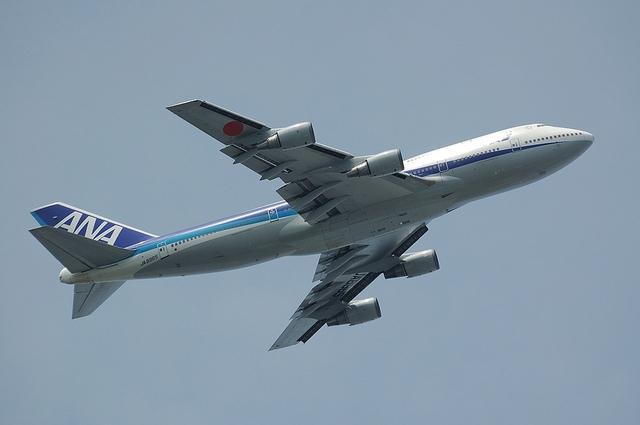 ANA Boeing747-400 上昇 2