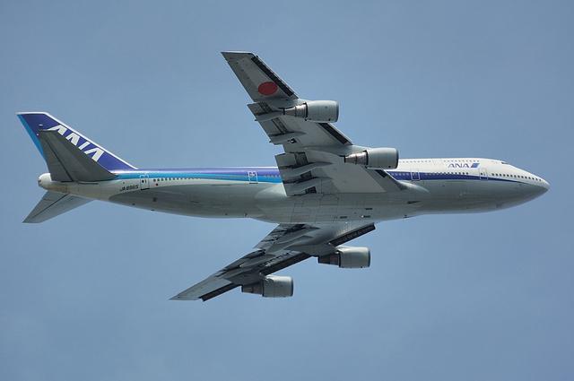 ANA Boeing747-400 上昇 3