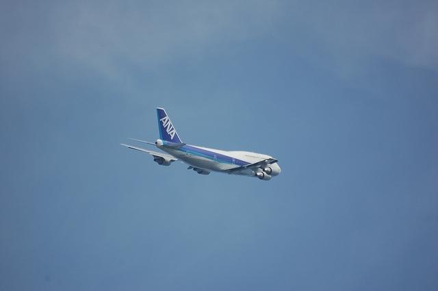 ANA Boeing747-400 上昇 4