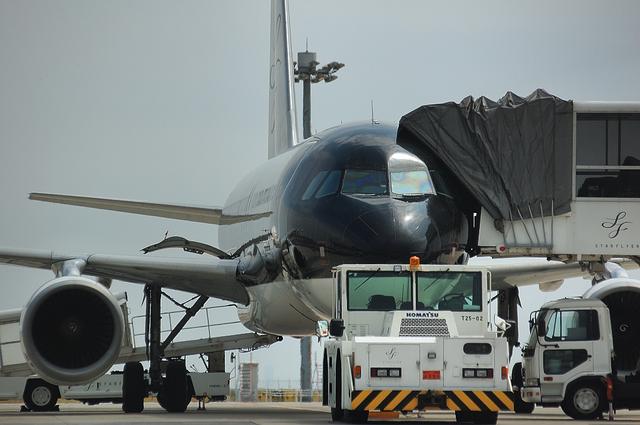 メンテナンスエリアのSFJ Airbus A320 1