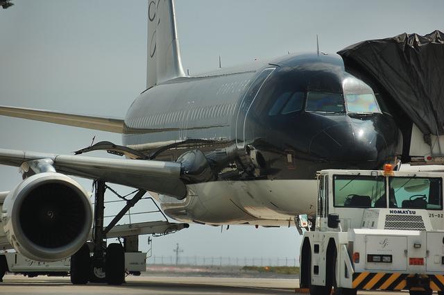 メンテナンスエリアのSFJ Airbus A320 2