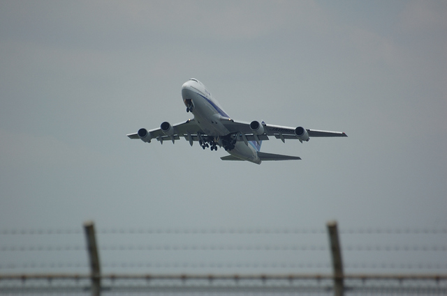 ANA Boeing747-400 RWY16R Take Off 1