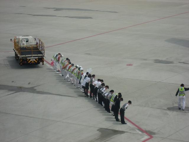 JALのお見送り 4