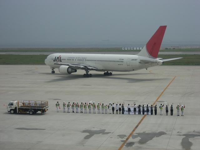 JALのお見送り 8