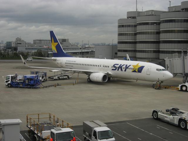 羽田空港の24番スポット