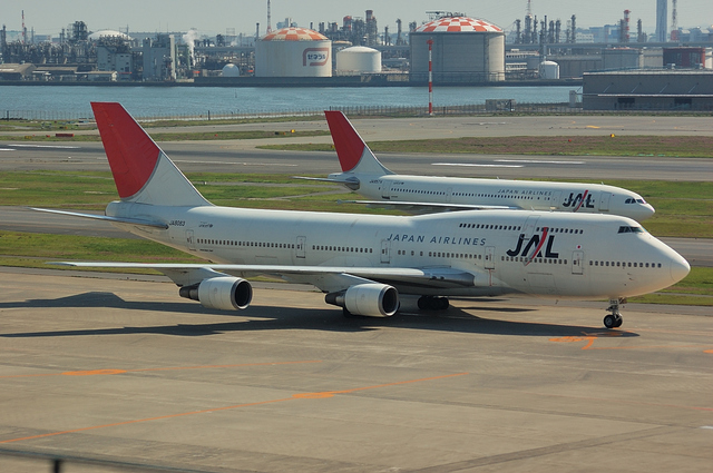 Boeing747とAirbus A340