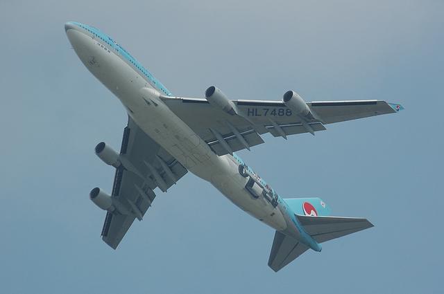 大韓航空のBoeing747-400
