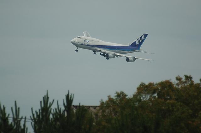 ANA Boeing747 RWY16L Approach 1
