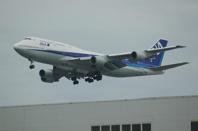 ANA Boeing747 RWY16L Approach 2
