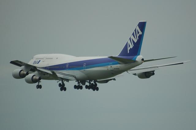 ANA Boeing747 RWY16L Approach 5
