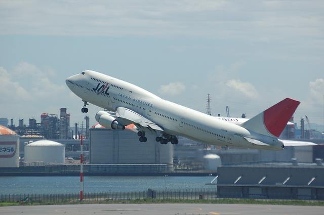 JAL Boeing747-400 上昇