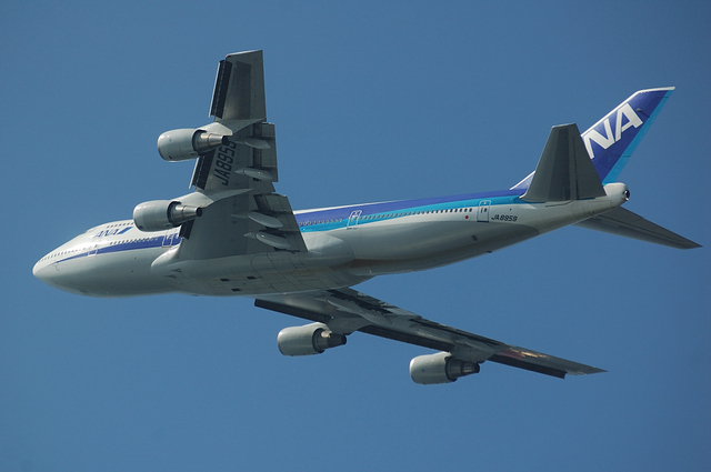 ANA B747-400 Take Off 7