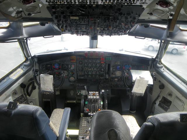 昔のAirForce1のコックピット