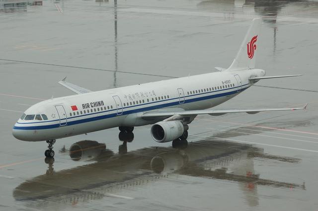 中国国際航空 A321 到着