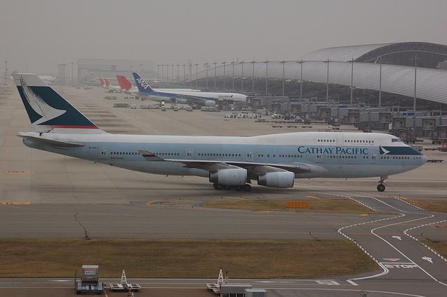 キャセイ Boeing747-400 2