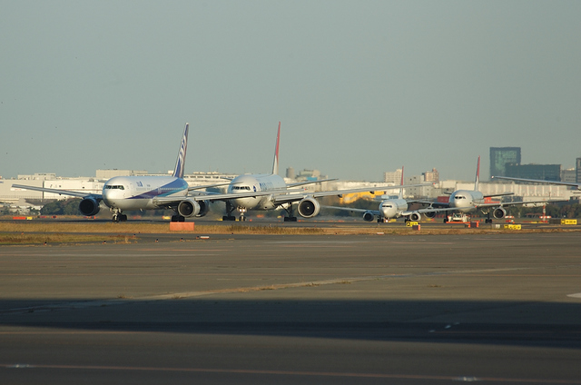 飛行機の整列