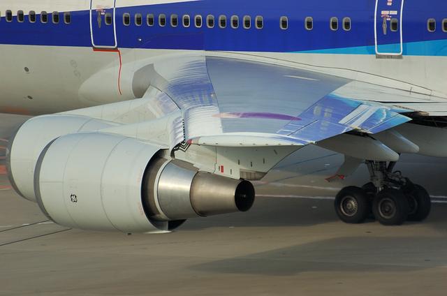Boeing747 スラット展開後