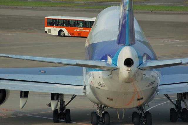 Boeing747 尾灯とAPU排気口