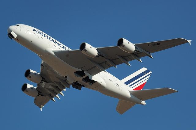 AFのA380のギアアップ