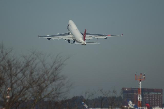 JALのジャンボの急上昇