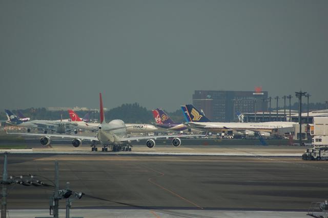 第1ターミナルの飛行機