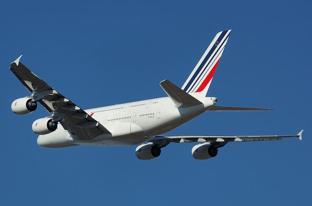 AF A380の上昇姿