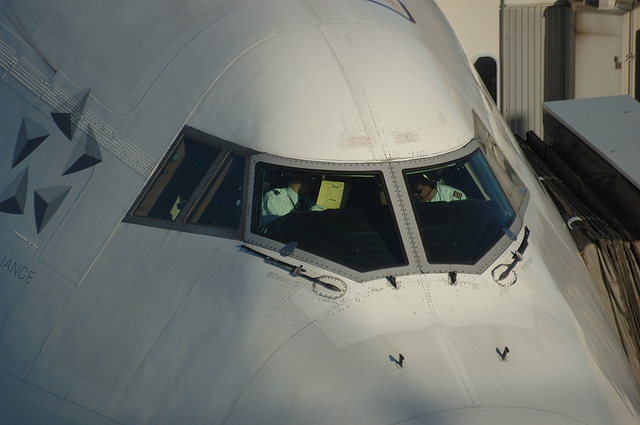 Boeing747 コックピット窓