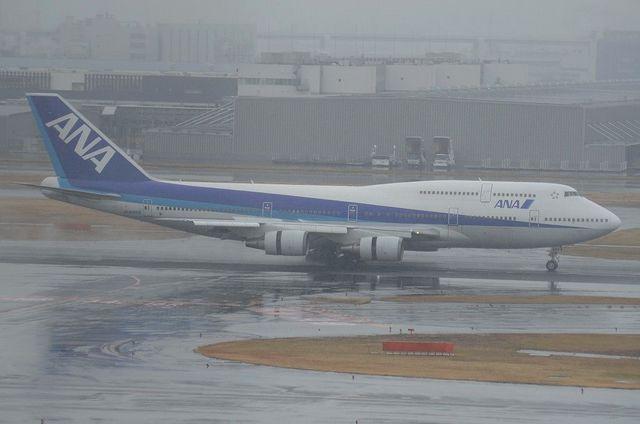 ANAのBoeing747-400