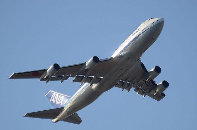 ANA B744D 離陸 2