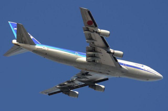 ANA B744D 離陸 4