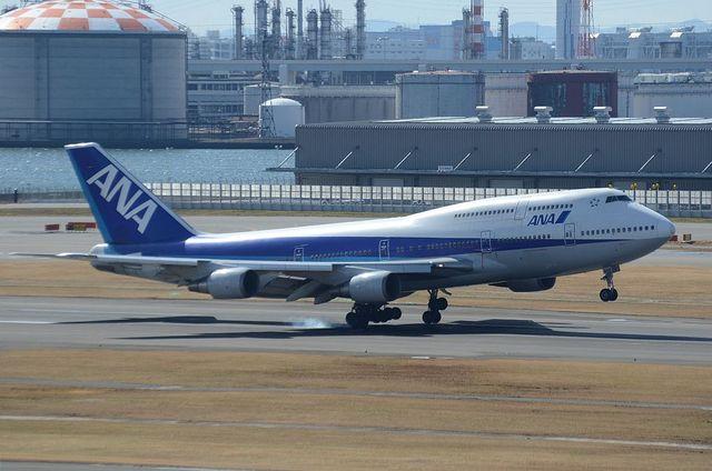 ANA B744D 着陸 2
