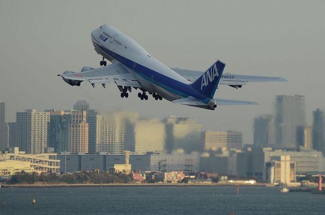 ANAのB747 Take Off