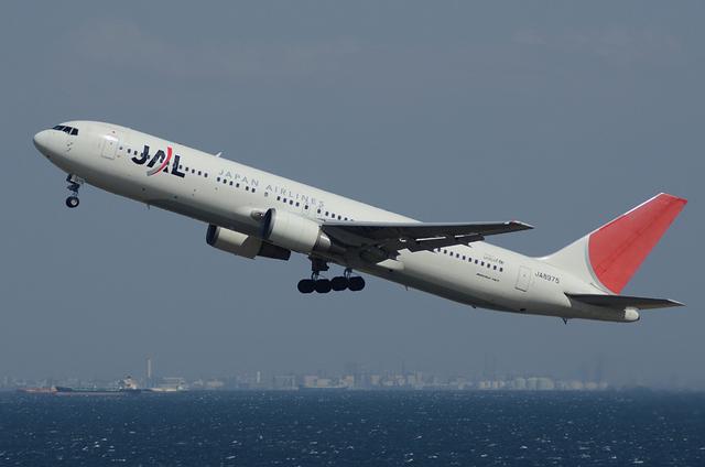 JAL Boeing767 離陸