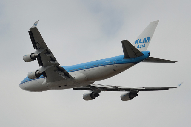 KLM B747 4